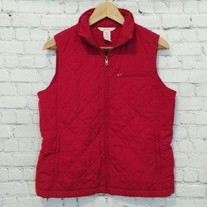 Sundance Quilted Vest Red Medium